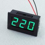 3Pcs 0.56 Inch Green AC70-500V Mini Digital Voltmeter Voltage Panel Meter AC Voltage LED Display Meter