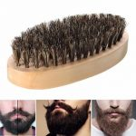Boar Bristle Thickest Beard Taming Brushing Wooden Palm Brush