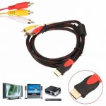 1.5M 5Ft HDMI Male to 3 RCA Video Audio AV Cable Cord Adapter for TV DVD 1080P PS3 Xbox