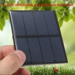 2V 0.6W 300MA 82x70x3.0MM Polycrystalline Silicon Solar Panels Epoxy