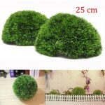 25cm Plastic Artificial Conifer Topiary Grass Ball Wedding Gardening Hanging Decoration