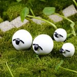 6x Mini Sheep Bonsai Resin Garden Miniature Fairy Garden Terrarium Landscape
