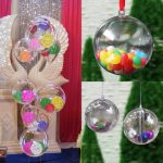 10x Christmas Clear Bauble Ornament Gift Present