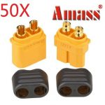 50X Amass XT60 Plug Connector With Sheath Housing Male Female 1 Pair