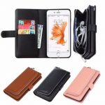 Removable Magnetic Flip Leather Wallet Card Slots Cashes Pocket Case Cover for iPhone 6 6s 4.7 Inch