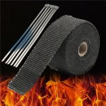 5M Black High Heat Insulation Fiberglass Wrap Exhaust Header Pipe Tape