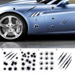 3D Simulated Bullet Holes Car Sticker Scratch Decal Waterproof Motorcycle Stickers 23X29CM