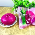 Eric Squishy Onion Green Purple 10cm Slow Rising Original Packaging Vegetable Collection Gift Decor
