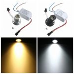 AC85-265V 1W Mini LED Warm/White Jewelry Light Cabinet Lamp Ceiling Spotlight