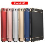 Luxury Plating Frame Splicing PC Hard Back Cover Case For Xiaomi 5 Mi5