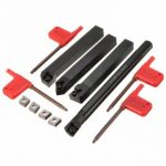 4pcs SCLCR 12mm Lathe Index Boring Bar Turning Tool Holder With 4pcs CCMT 09T3 Inserts