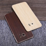 SIMW Colorful Retro Matte Anti-Scratch Wood Grain Phone Sticker Protector for Samsung Galaxy S7 Edge
