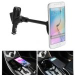 3 in 1 Car Cigarette Lighter Phone Holder With 2 USB Ports Cigarette Lighter