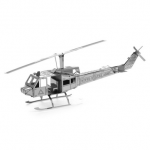 Aipin DIY 3D Puzzle Stainless Steel Model Kit Helicopter Silver Color