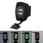 12V 24V Waterproof Auto Motorcycle 5V 3.1A 2 Ports USB Power Adapter Charger