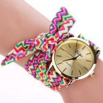 DUOYA Brand Retro Folk-custom Ear Cloth Strap Casual Ladies Wrist Watch Analog Women Quartz Watch