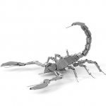 DIY 3D Puzzle Stainless Steel Assembled Model Scorpion Silver Color