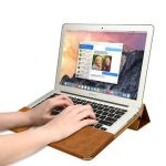 JISON CASE Multifunctional Leather Bag Kickstand Case For Macbook Air 13.3 Inch