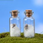 3.5cm Fluorescent Wishing Glass Bottle with Luminous Sand for Gift Home Decoration