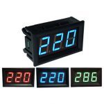 0.56 Inch AC70-500V Mini Digital Voltmeter Voltage Panel Meter AC Voltage LED Display Meter