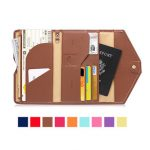 Honana HN-PB2 9 Colors Fashion Leather Travel Passport Holder Credit Card Tickets Organizer