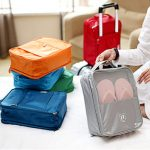 Woman Nylon Shoes Bag Double Layer Outdoor Travel Storage Bag Home Shoes Storage Bag