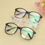 Unisex Full Rim Spectacles Eyeglass Frosted Frame with Transparent Flat Lens