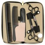 Professional Hair Hairdressing Cutting Thinning Scissors Barber Razor Set Kit with Case