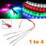 55CM LED Light Strip JST Plug Connector 1 to 4 Night Light for Multi-Rotor Quadcopter