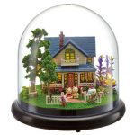 Cuteroom Dollhouse Miniature Romantic House DIY Kit With Cover And LED