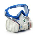 Silicone Full Face Respirator Gas Mask Goggles Comprehensive Cover Paint Chemical Pesticide Mask Dustproof Fire Escape