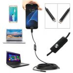 Waterproof 5.5/7mm 6 LED Lens 5m 1.3MP Endoscope USB Camera Borescope For Android Smartphone Laptop