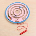 Magnetic Wooden Maze Labyrinth Game Children Ability Develop Colourful Educational Toy Gift