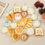 10PCS Medium 7CM Random Squishy Toy Soft Panda/Bread/Cake/Buns/Macaroon Phone Straps