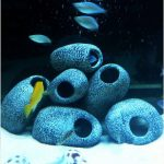 Aquarium Cichlid Stones Ceramic Rock Cave Ornament Cichlid Stones Fish Tank Cichlid Stones Decorati