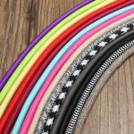 1M Vintage Colorful Twist Braided Fabric Cable Wire Electric Pendant Light Accessory