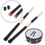 Professional Wooden Drum Sticks Rods Rubber Handle Drumsticks Brushes