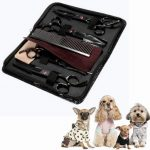 Professional Pet Scissors Kit Sharp Edge Dog Cat 4pcs Grooming With Storage Bag