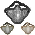 Half Face Metal Steel Net Mesh Mask for Motorcycle Tactical Hunting