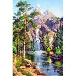 16×12 Inches 5D Diamond Painting Landscape Scenery Craft DIY Cross Stitch Home Decor