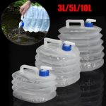 3L/5L/10L Portable PE Folding Drinking Water Bag Container Outdoor Sports Activieties