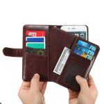 PU Leather Magnetic Detachable Phone Case With Detachable Wallet For iPhone 6 6s 4.7 Inch