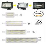 ZX Dimmable R7S 4W 8W 12W 15W 360Degree LED Bulb Replace Halogen Lamp Corn Bulb AC85-265V