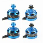 4X Racerstar Racing Edition 2205 BR2205 2300KV 2-4S Brushless Motor Light Blue For 210 X220 250 280