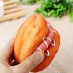 20X8X3.5CM Kawaii Squishy Simulation Ham Bread Fun Toys Soft Decoration