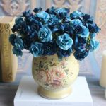 4 Colors Artificial Rose Bouquet Simulated Flowers Leaf Home Wedding Garden Decor
