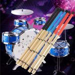 40cm Rock Jazz Drum Brushes Sticks Made of Bamboo Rubber Handle Wood Tip