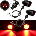 2pcs LED Turn Signals Indicator Tail Brake Red Lights Universal Motorcycle Bike