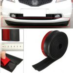 2 91 Inches Car Front Bumper Lip Splitter Protector Body Spoiler Valance Chin Rubber