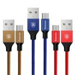 Baseus Cloth Braided 1.5M 2A Fast Charging Data Sync Micro USB Cable for Samsung Xiaomi Huawei